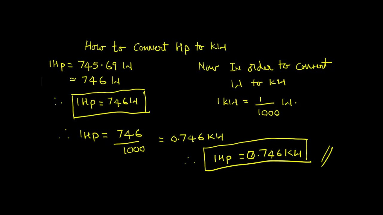 convertir CV en kW