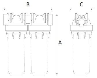 filtre eau double maroc